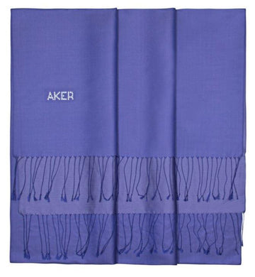 Aker Bi-Color Ladies Silk Shawl Wrap - Governor Bay Silk Shawls Aker