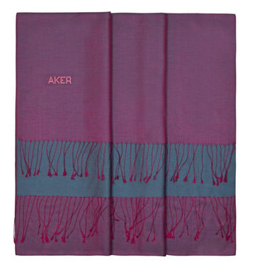 Aker Bi-Color Silk Shawl Wrap for Women - Cosmic Silk Shawls Aker