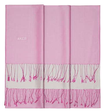 Aker's Women Gorgeous Pink Silk Shawl with Swarovski Stone Silk Shawls Aker