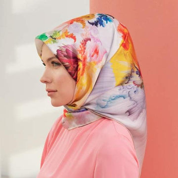 Armine Iris Turkish Silk Hair Cover No. 1 Silk Hijabs,Armine Armine
