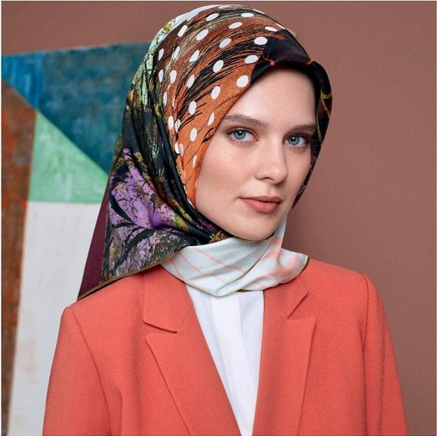 Aker : A Essence of Fall Turkish Silk Hijab Scarf Aker,Silk Scarves Aker