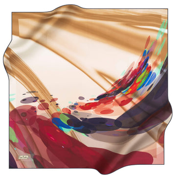 Pierre Cardin Wave Silk Scarf No. 22 Pierre Cardin,Silk Scarves Pierre Cardin