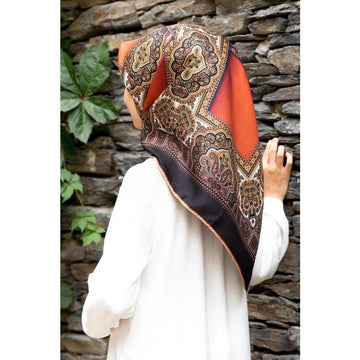 Vissona Victoria Turkish Silk Twill Scarf No. 3 Silk Hijabs Vissona
