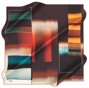 Aker Jacq Abstract Silk Scarf No.41 Aker,Silk Scarves Aker