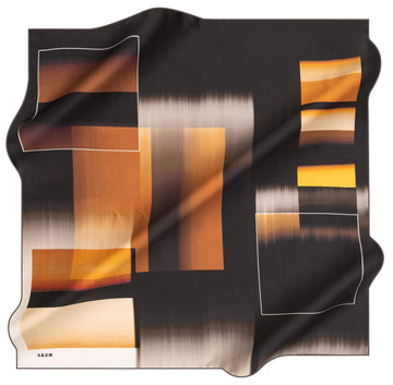 Aker Jacq Abstract Silk Scarf No.71 Aker,Silk Scarves Aker