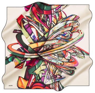 Aker Artisan Turkish Silk Scarf No. 12 Aker,Silk Scarves Aker