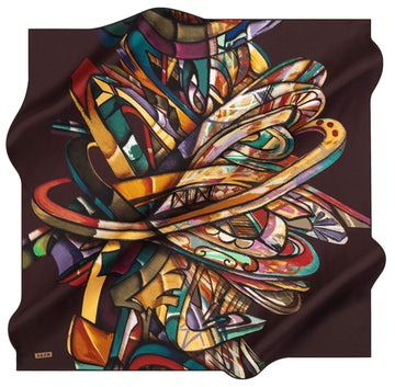 Aker Artisan Turkish Silk Scarf No. 41 Aker,Silk Scarves Aker