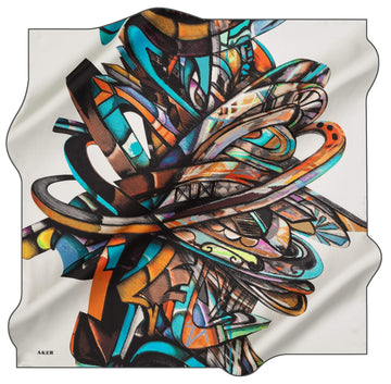 Aker Artisan Turkish Silk Scarf No. 71 Aker,Silk Scarves Aker