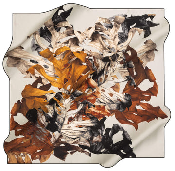 Aker Leaf Turkish Silk Scarf No. 12 Aker,Silk Scarves Aker