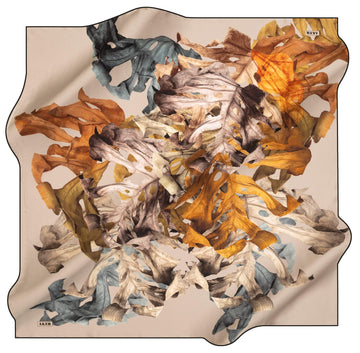 Aker Leaf Turkish Silk Scarf No. 13 Aker,Silk Scarves Aker