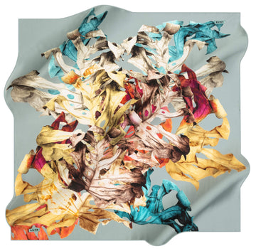 Aker Leaf Turkish Silk Scarf No. 23 Aker,Silk Scarves Aker