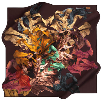 Aker Leaf Turkish Silk Scarf No. 41 Aker,Silk Scarves Aker