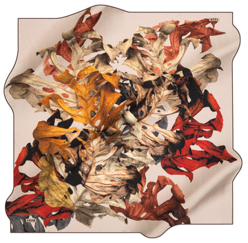 Aker Leaf Turkish Silk Scarf No. 42 Aker,Silk Scarves Aker