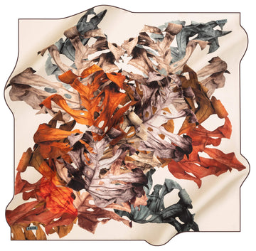 Aker Leaf Turkish Silk Scarf No. 43 Aker,Silk Scarves Aker
