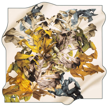 Aker Leaf Turkish Silk Scarf No. 52 Aker,Silk Scarves Aker
