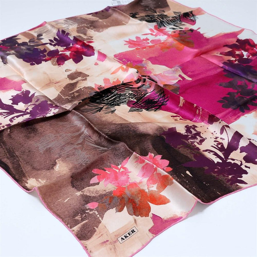 Aker Allegra Turkish Silk Scarf No 91 Silk Hijabs,Aker,Silk Scarves Aker