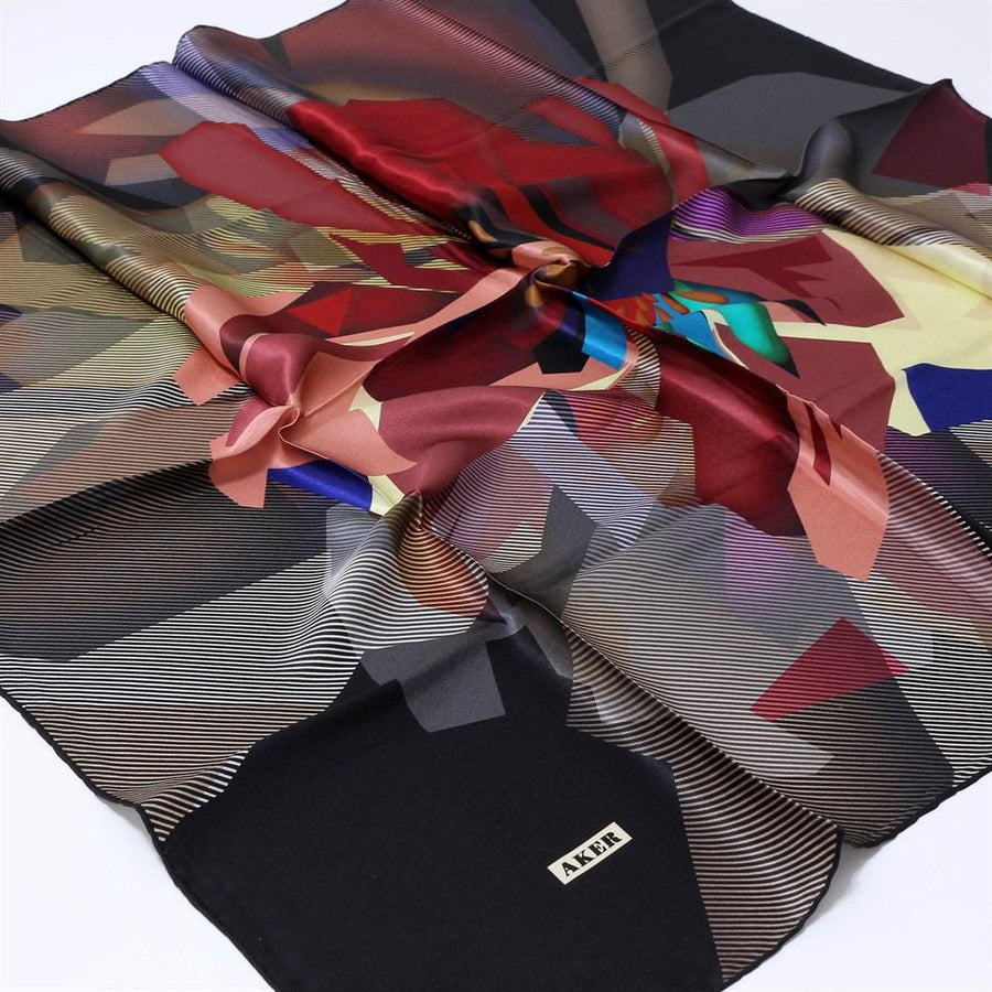 Aker Trendy Turkish Silk Scarf Hextor No. 12 Silk Hijabs,Aker,Silk Scarves Aker