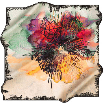 Aker Odette Abstract Silk Scarf No. 12 Silk Hijabs,Aker,Silk Scarves Aker