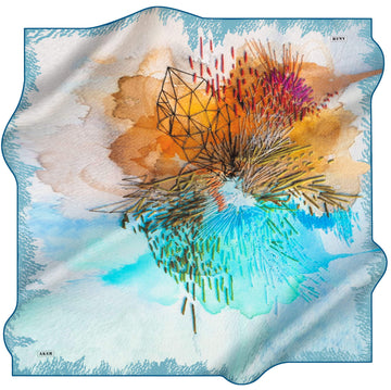 Aker Odette Abstract Silk Scarf No. 24 Silk Hijabs,Aker,Silk Scarves Aker