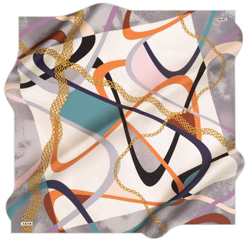 Aker Mave Silk Twill Hair Wrap No. 71 Silk Hijabs,Aker,Silk Scarves Aker