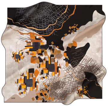 Aker Lego Abstract Silk Scarf No. 32 Silk Hijabs,Aker,Silk Scarves Aker
