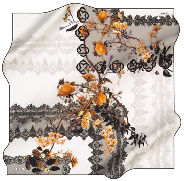 Aker Lacey Silk Hair Cover No. 14 Silk Hijabs,Aker,Silk Scarves Aker