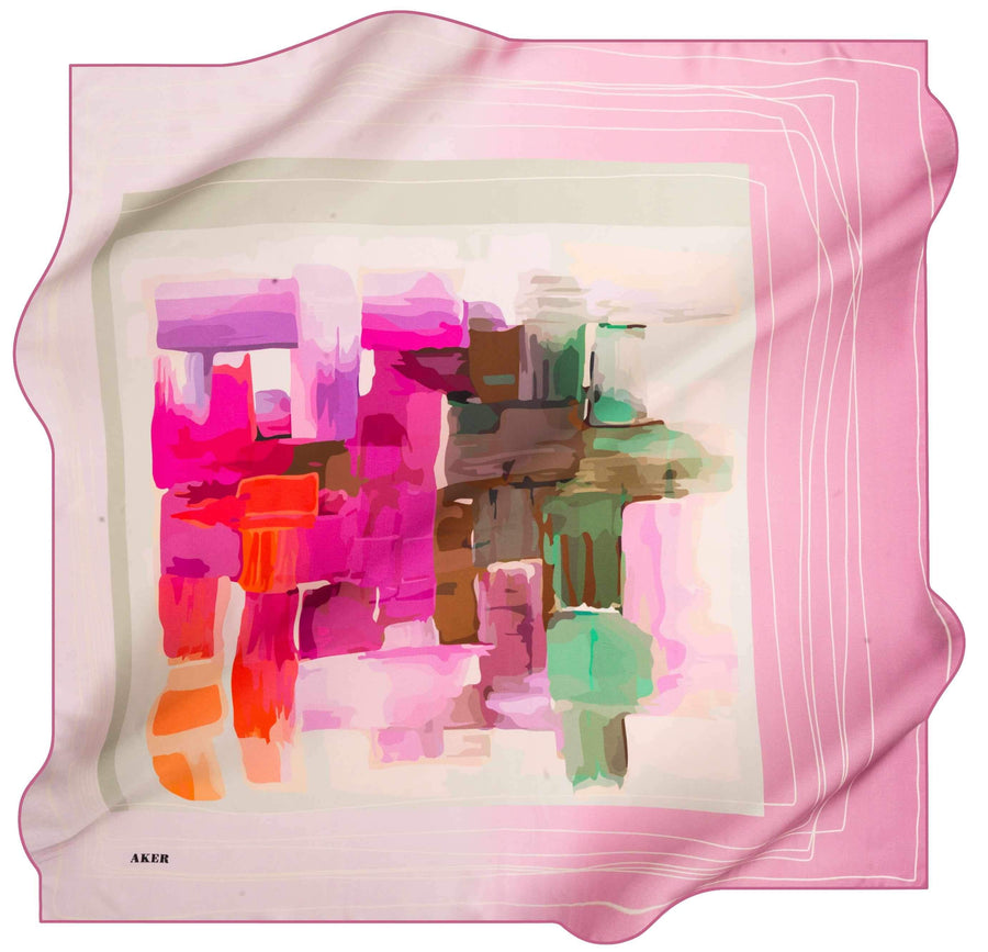 Aker Fashion Silk Scarf Candy No. 91 Silk Hijabs,Aker,Silk Scarves Aker