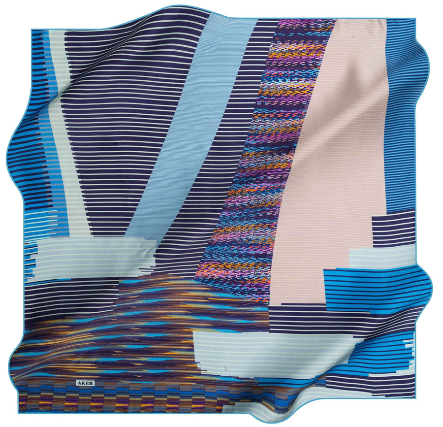 Aker Turkish Silk Scarf Vue No. 21 Silk Hijabs,Aker,Silk Scarves Aker