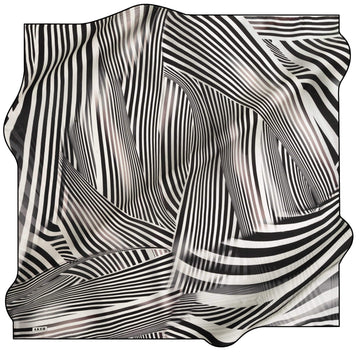 Aker Luxury Striped Silk Wrap Kita Silk Hijabs,Aker,Silk Scarves Aker