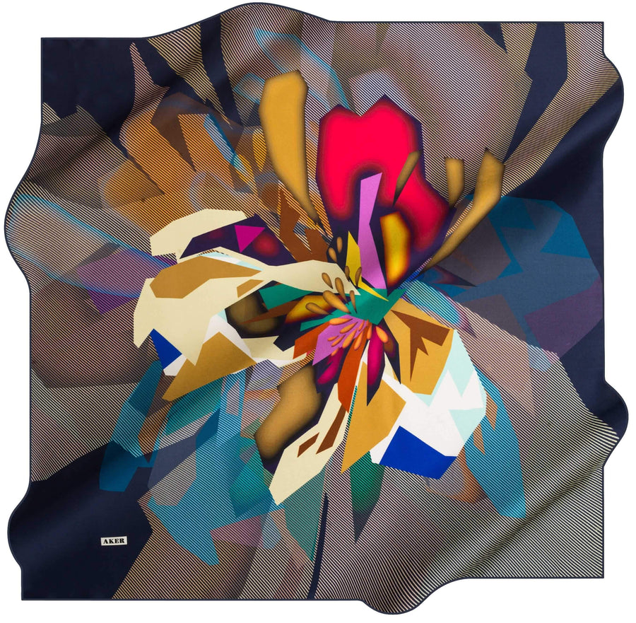 Aker Trendy Turkish Silk Scarf Hextor No. 23 Silk Hijabs,Aker,Silk Scarves Aker