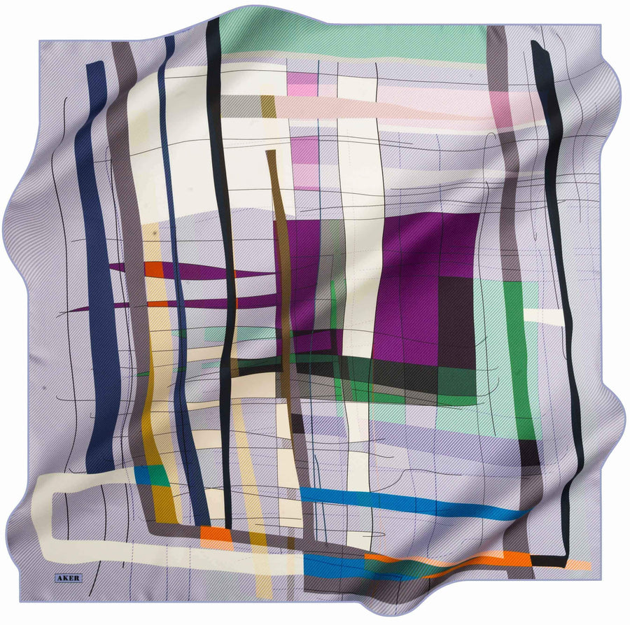 Aker Turkish Silk Scarf for Women Carly No. 92 Silk Hijabs,Aker,Silk Scarves Aker