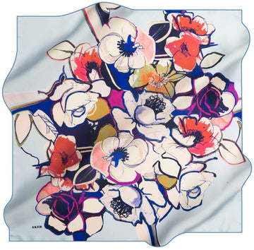 Aker Women Silk Scarves Happy No. 23 Silk Hijabs,Aker,Silk Scarves Aker