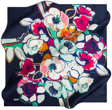 Aker Women Silk Scarves Happy No. 24 Silk Hijabs,Aker,Silk Scarves Aker