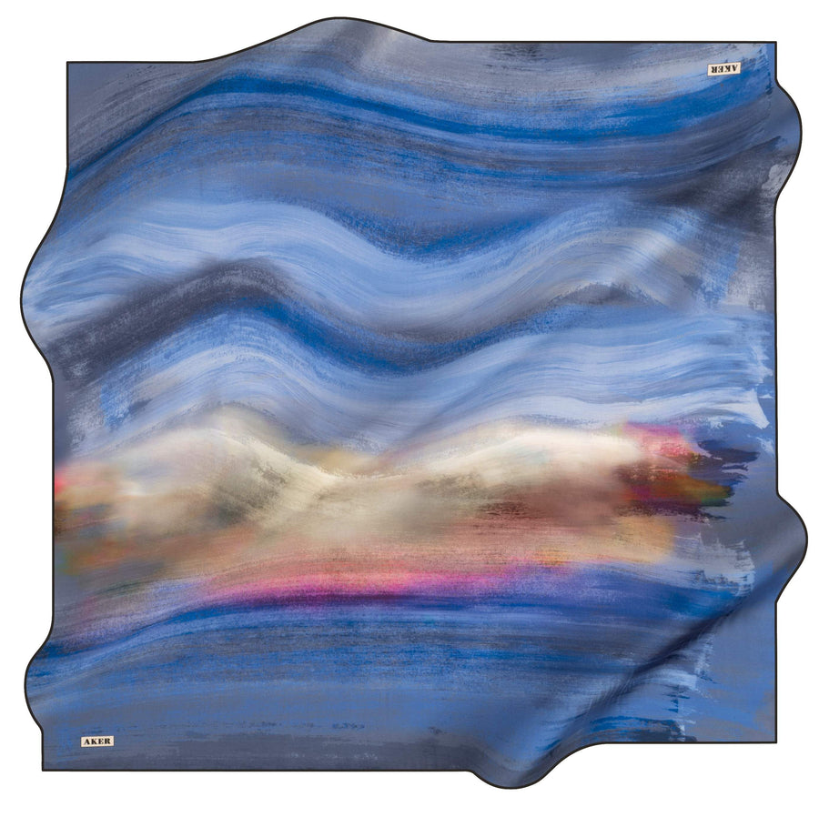 Aker Wave Turkish Silk Scarf No. 11 Silk Hijabs,Aker,Silk Scarves Aker