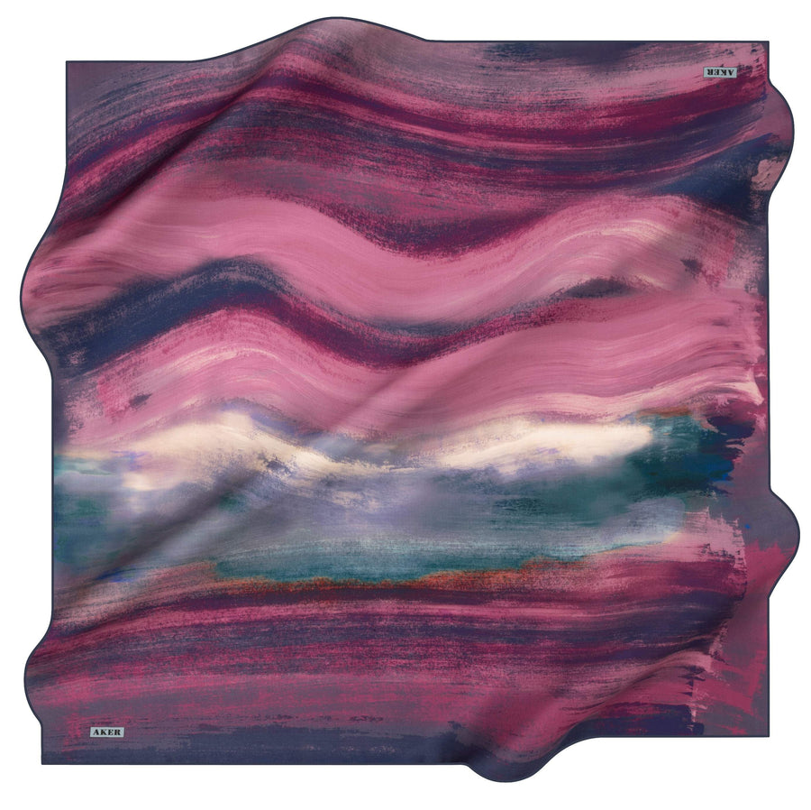 Aker Wave Turkish Silk Scarf No. 21 Silk Hijabs,Aker,Silk Scarves Aker