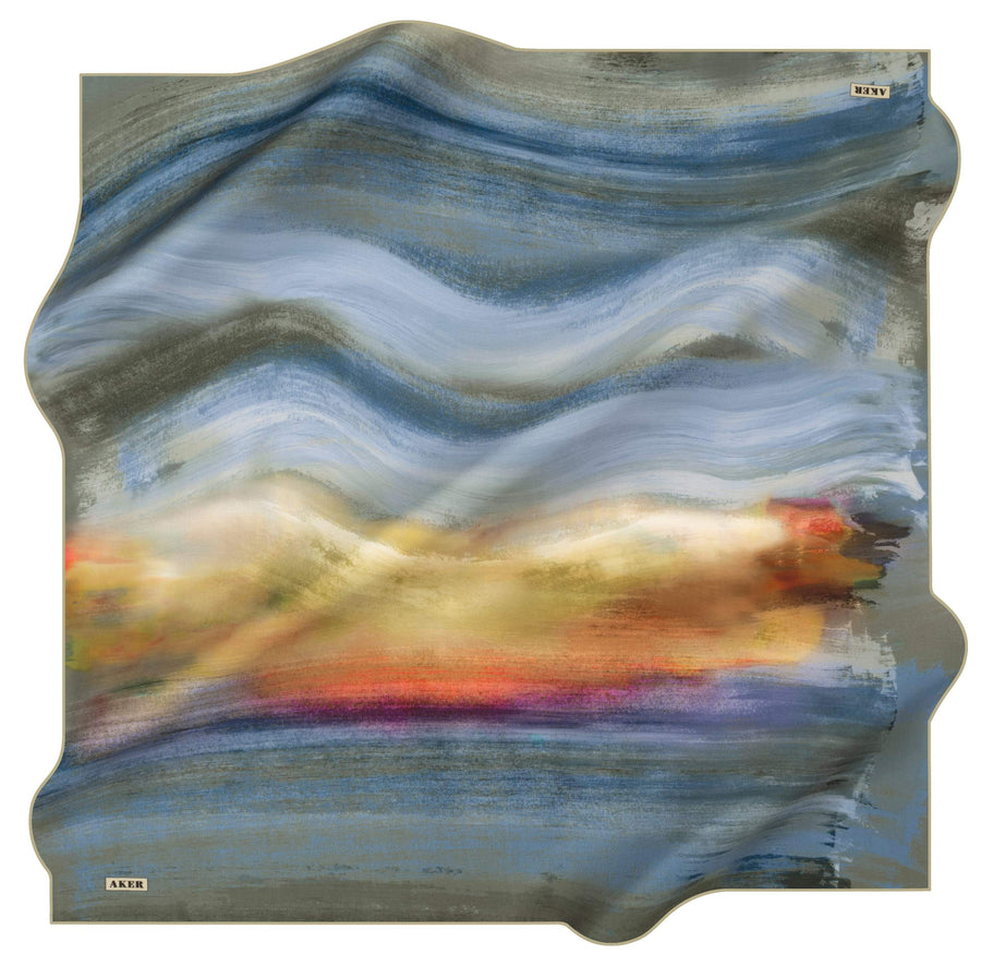 Aker Wave Turkish Silk Scarf No. 51 Silk Hijabs,Aker,Silk Scarves Aker