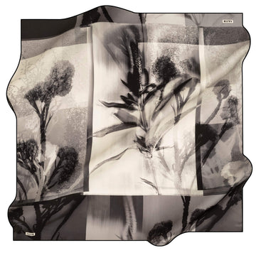 Aker Wild Flower Turkish Silk Scarf No. 12 Silk Hijabs,Aker,Silk Scarves Aker