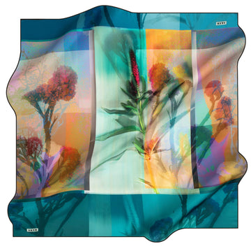 Aker Wild Flower Turkish Silk Scarf No. 13 Silk Hijabs,Aker,Silk Scarves Aker