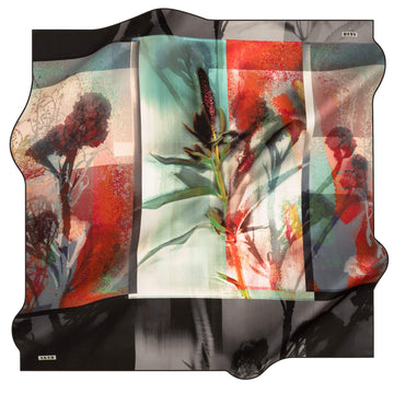 Aker Wild Flower Turkish Silk Scarf No. 14 Silk Hijabs,Aker,Silk Scarves Aker