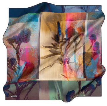 Aker Wild Flower Turkish Silk Scarf No. 21 Silk Hijabs,Aker,Silk Scarves Aker