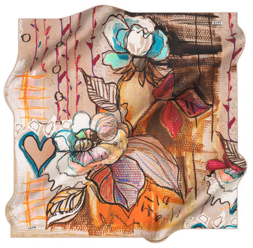 Aker Desire Silk Twill Scarf No. 91 Aker,Silk Scarves Hijab Planet
