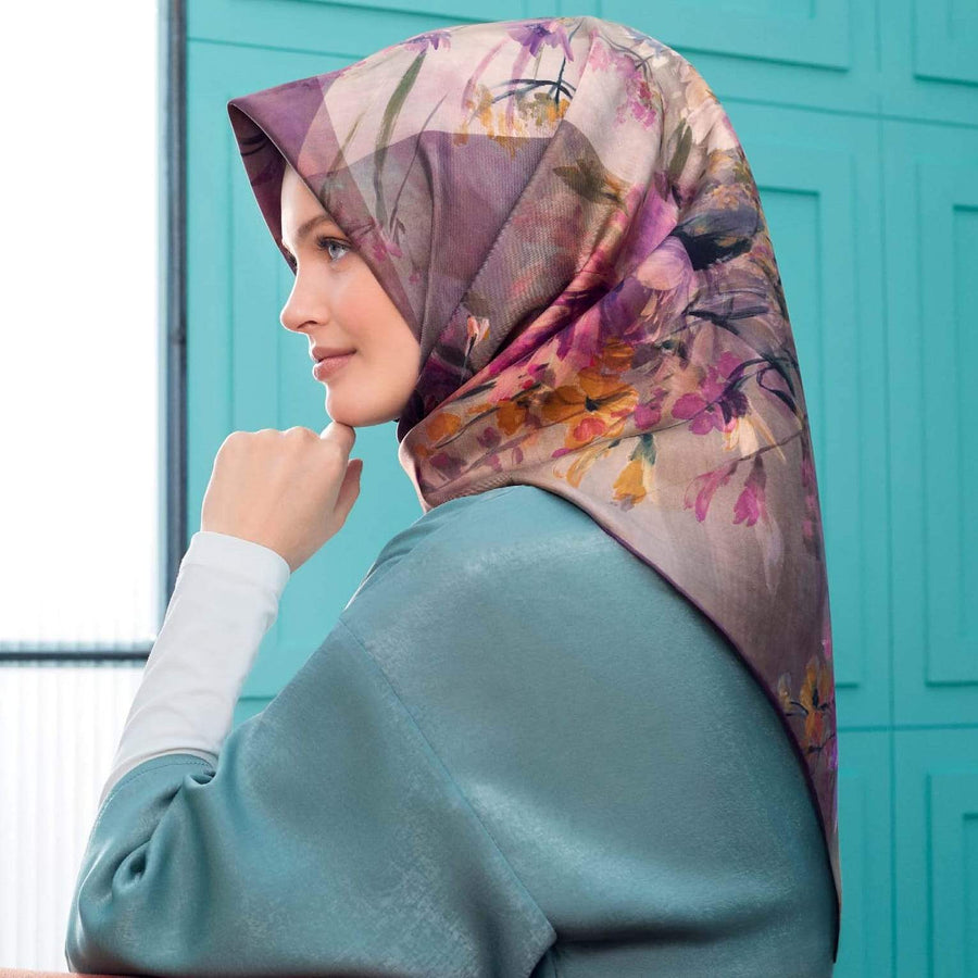 Armine : Adelphi Silk Hijab for Women Silk Scarf Armine