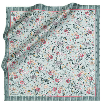 Cacharel Delia Floral Silk Twill Scarf No. 51 Silk Scarves Cacharel