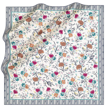 Cacharel Delia Floral Silk Twill Scarf No. 22 Silk Scarves Cacharel