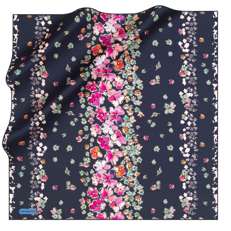 Cacharel Marolsha Floral Silk Scarf No. 21 Silk Scarves Cacharel