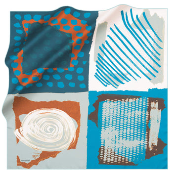 Cacharel Arty Abstract Silk Scarf No. 22 Silk Scarves Cacharel