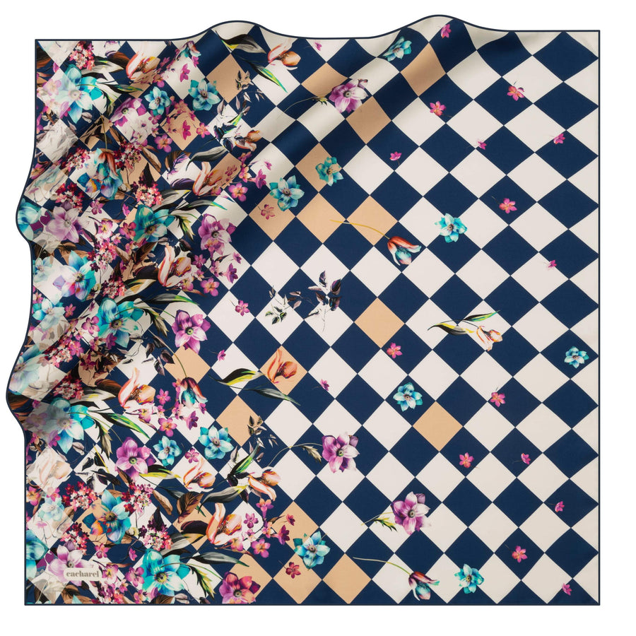 Cacharel Fiori Square Silk Scarf No. 23 Silk Scarves Cacharel