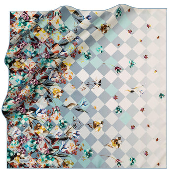 Cacharel Fiori Square Silk Scarf No. 22 Silk Scarves Cacharel