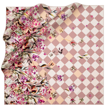 Cacharel Fiori Square Silk Scarf No. 91 Silk Scarves Cacharel