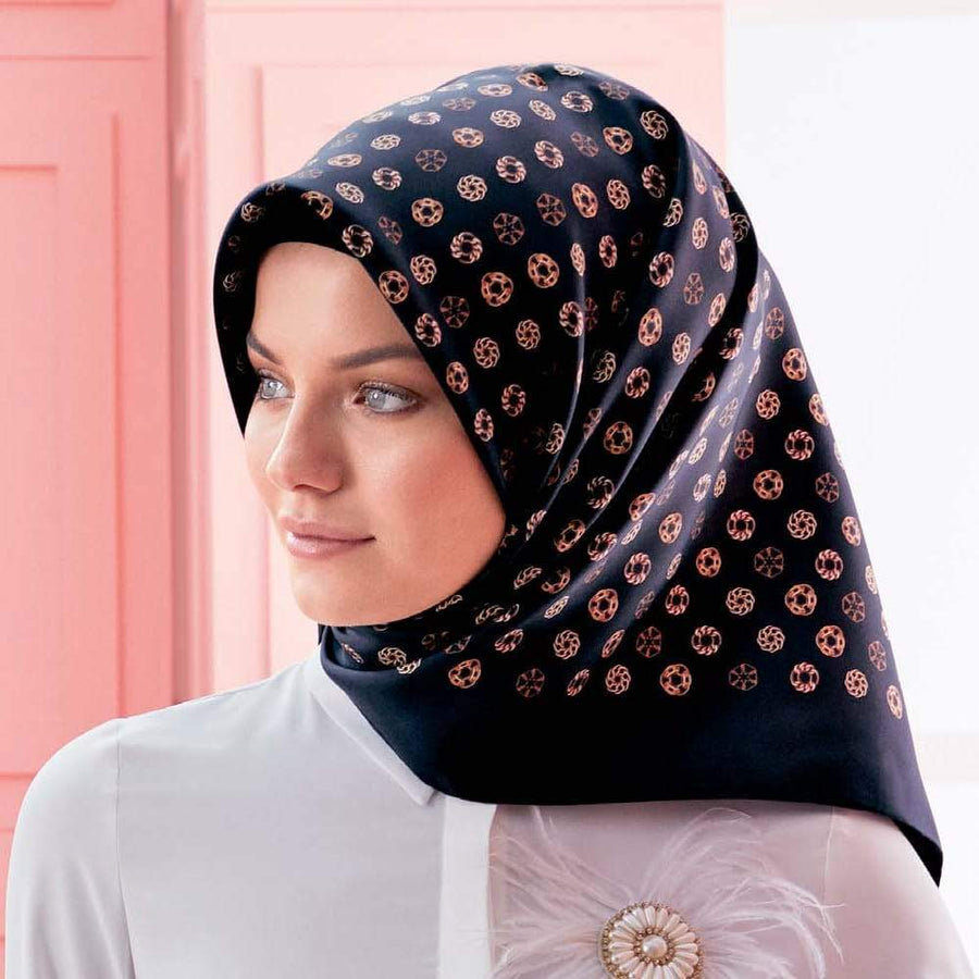 Armine : Anise Beautiful Classy Modest Head Wrap Silk Scarf Armine